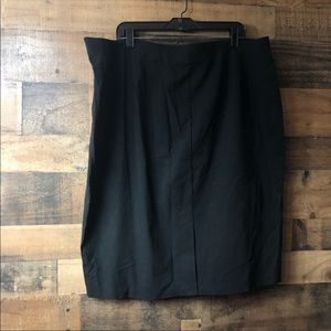Cato Solid Black Fitted Midi Pencil Skirt NWT